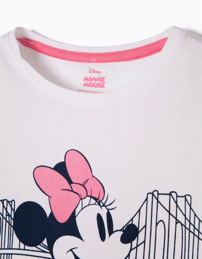 T-shirt Minnie Brooklyn Bridge Branca