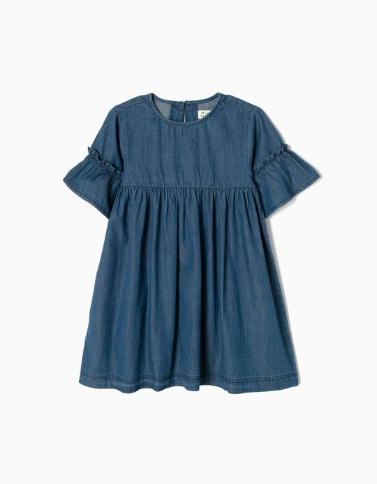 Loose-Fitting Denim Dress