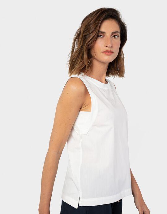 Plain Top for Women, White