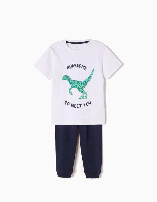 Pijama Manga Curta e Calças Roarsome