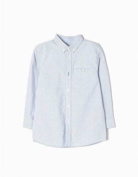 Camisa Riscas Oxford