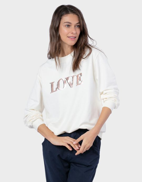 Carded Sweatshirt, 'Love'