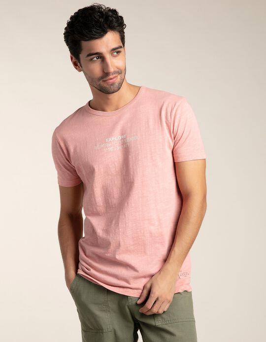 T-shirt slub garment dyed