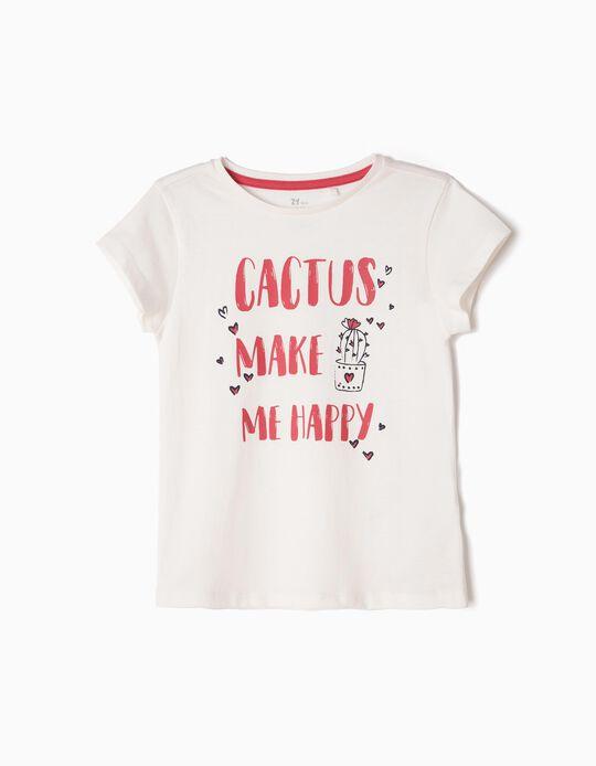 T-shirt Cactus Lover Branca