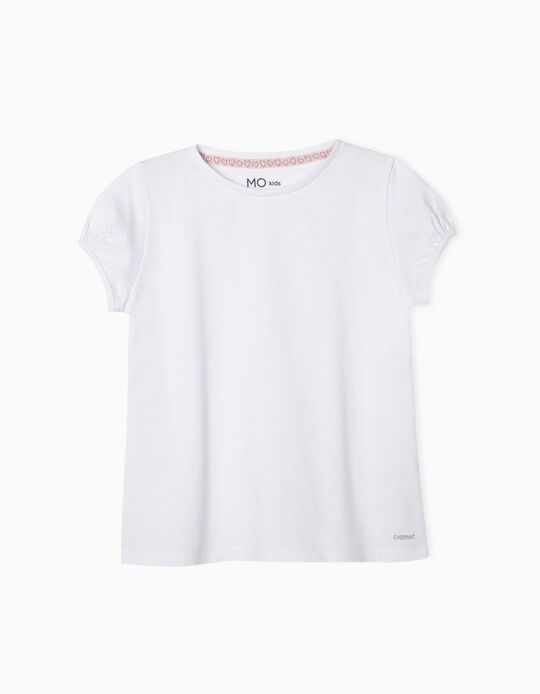 White T-shirt for Baby Girls