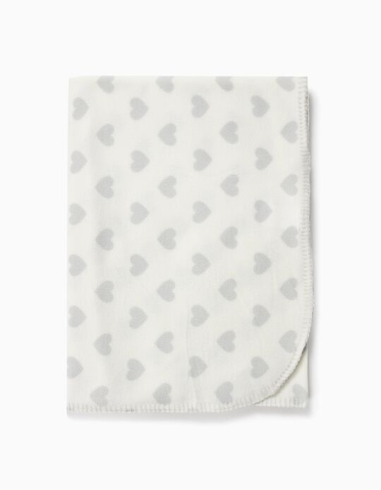Polar Fleece Throw, Hearts