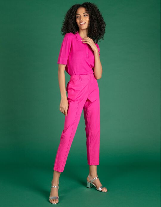 Cropped Trousers with Darts