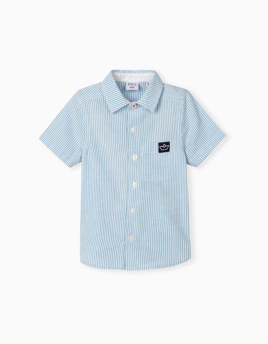 Camisa para Bebé Menino, às Riscas