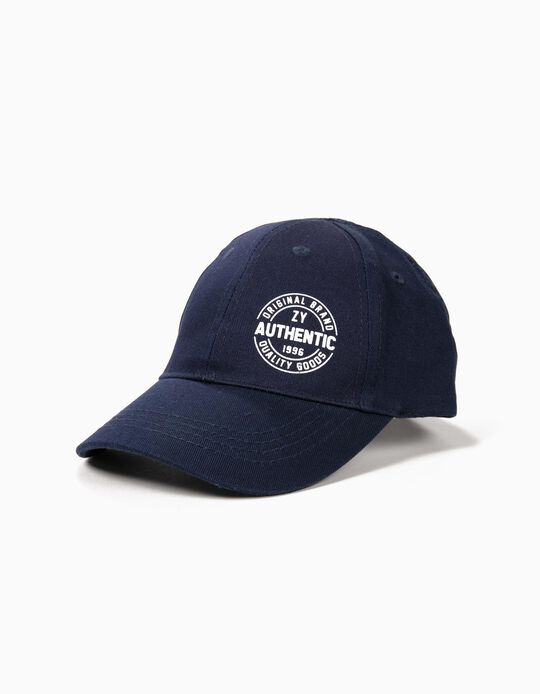 Cap for Boys 'ZY 1996', Dark Blue