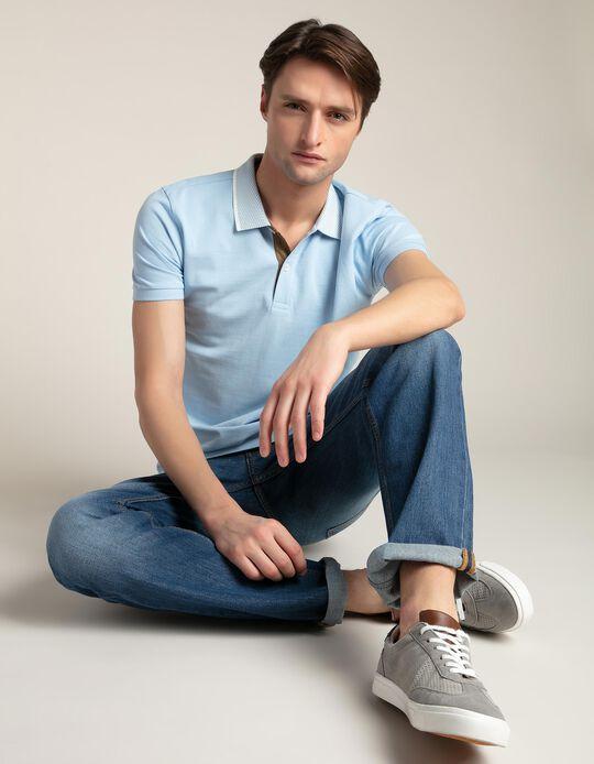 Polo shirt with contrasting collar