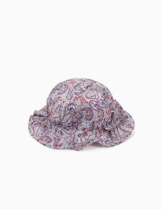 Chapéu Estampado para Menina, Multicolor