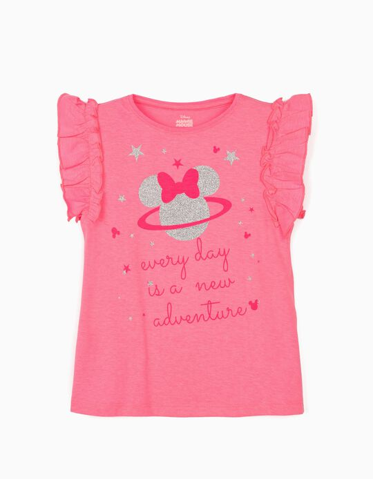 T-Shirt for Girls, 'Minnie Adventure', Pink