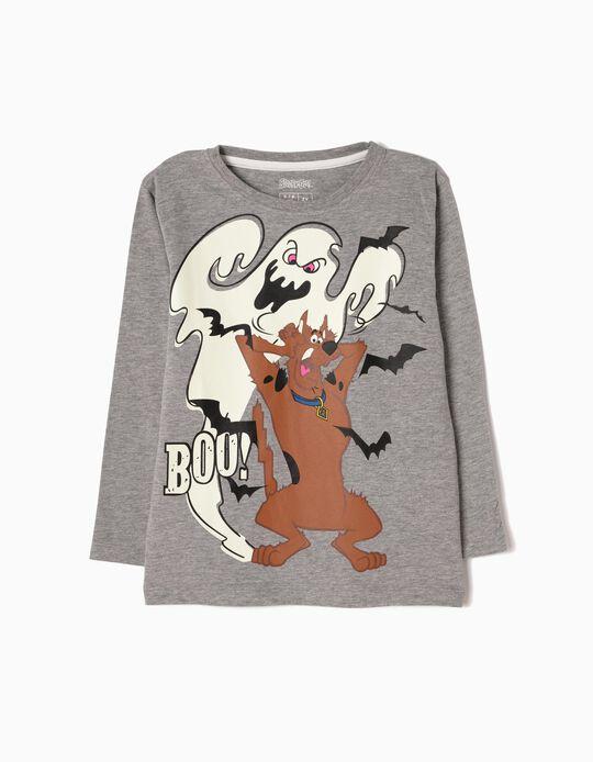 T-shirt Manga Comprida Scooby-Doo Cinzenta