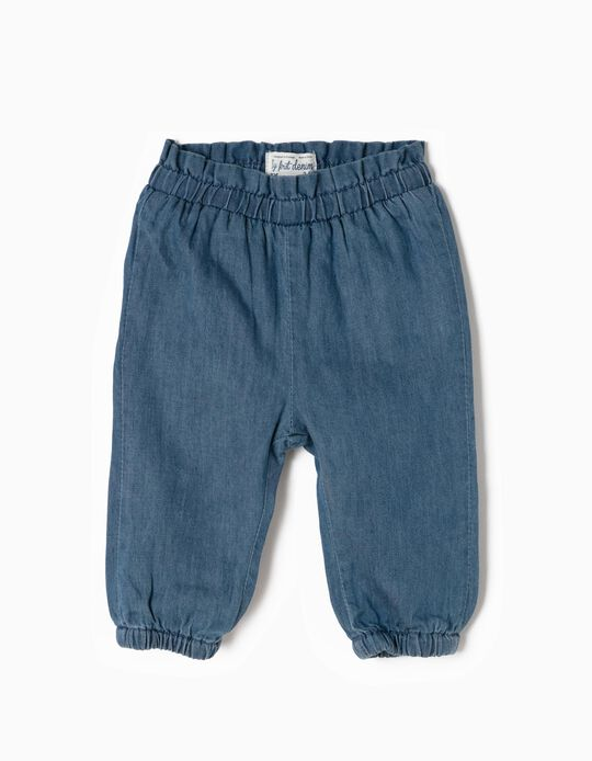 Denim Trousers for Newborn Girls 'My 1st Denim', Blue