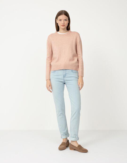 Basic Jeans, Women, Light Blue