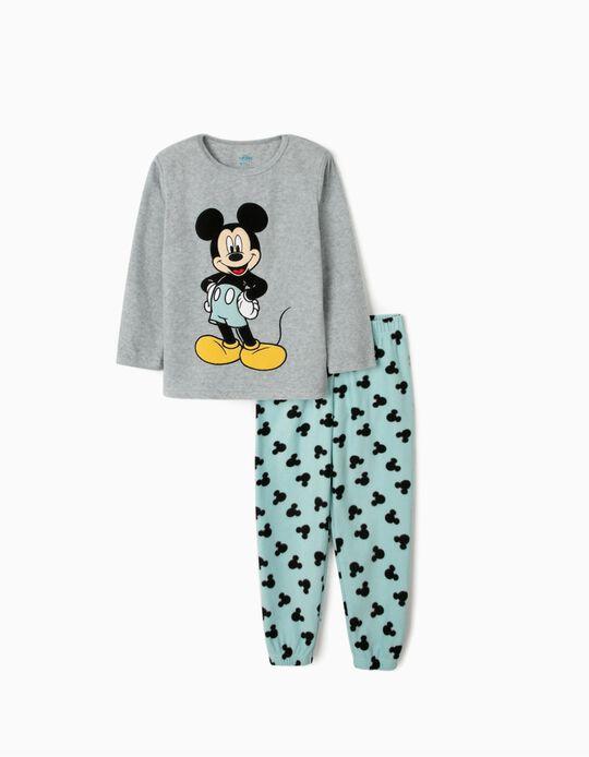 Pijama Polar para Menino 'Mickey', Cinza/Azul
