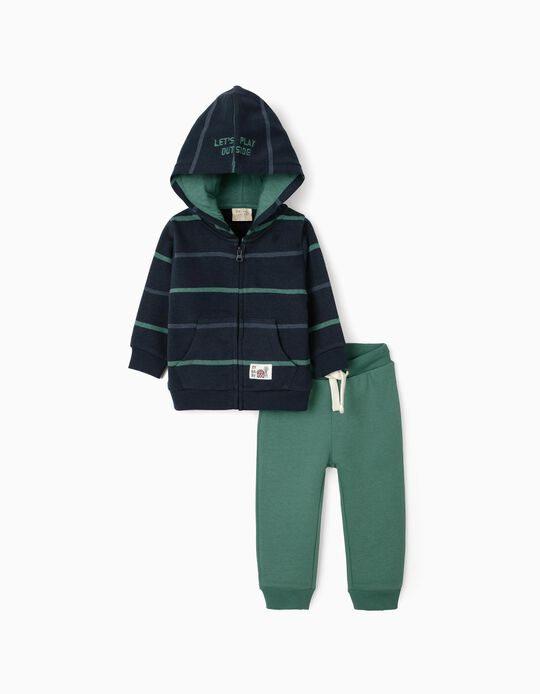 Tracksuit for Baby Boys, Dark Blue/Green