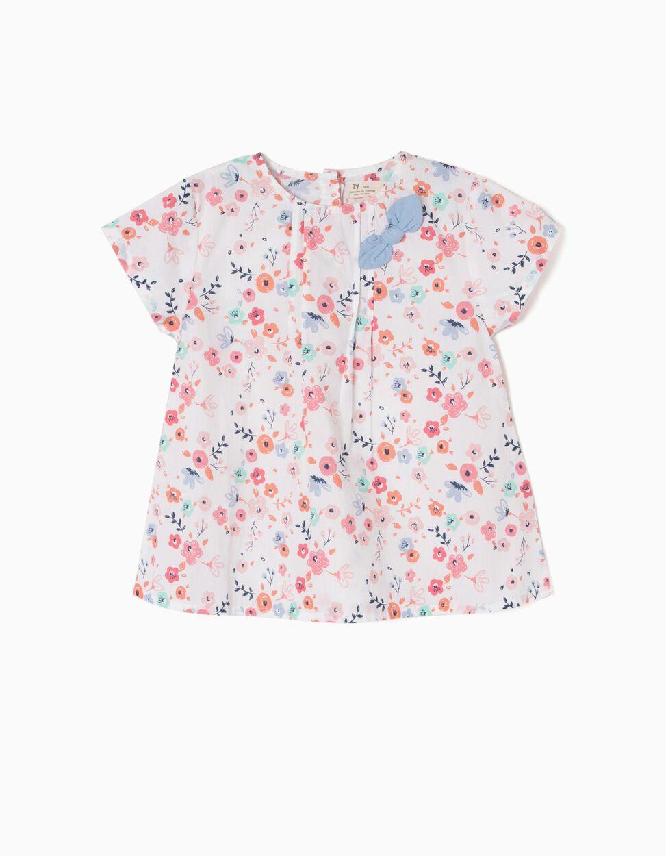 Blusa Riscas e Flores