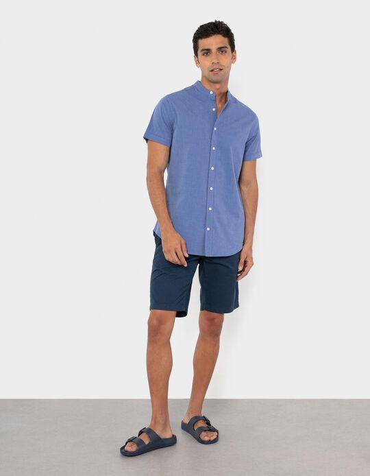 Twill Trousers for Men, Dark Blue