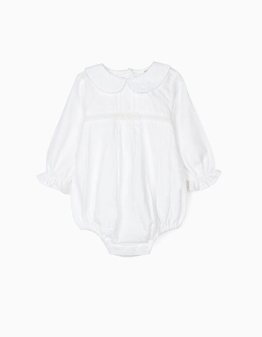 Body-Blusa para Recém-Nascida, Branco