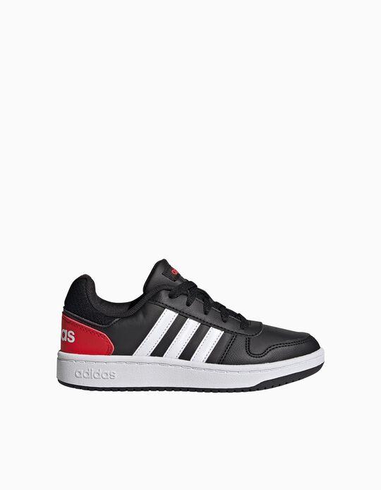 Adidas Hoops 2.0 Trainers, Kids, Black