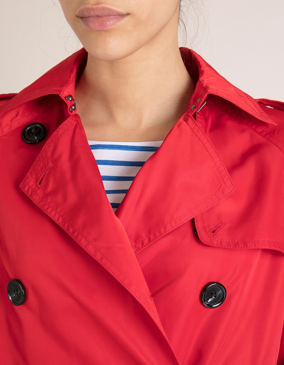 Trench Coat Vermelha