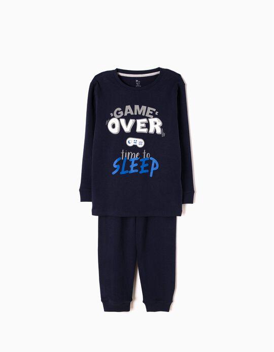 Pijama Manga Comprida e Calças Game Over