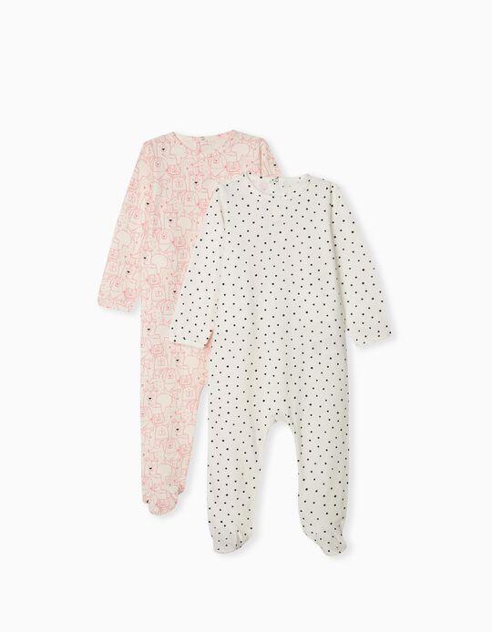 2 Cotton Sleepsuits