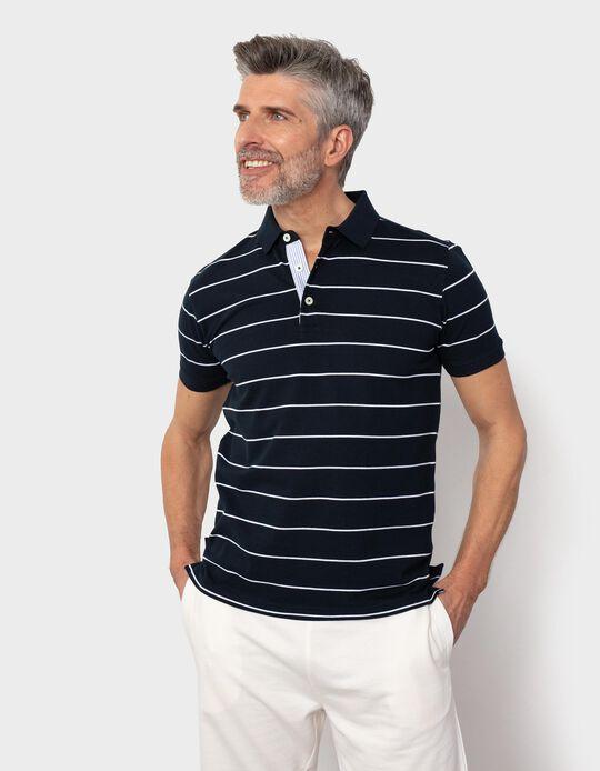 Striped PiquéKnit Polo Shirt, for Men