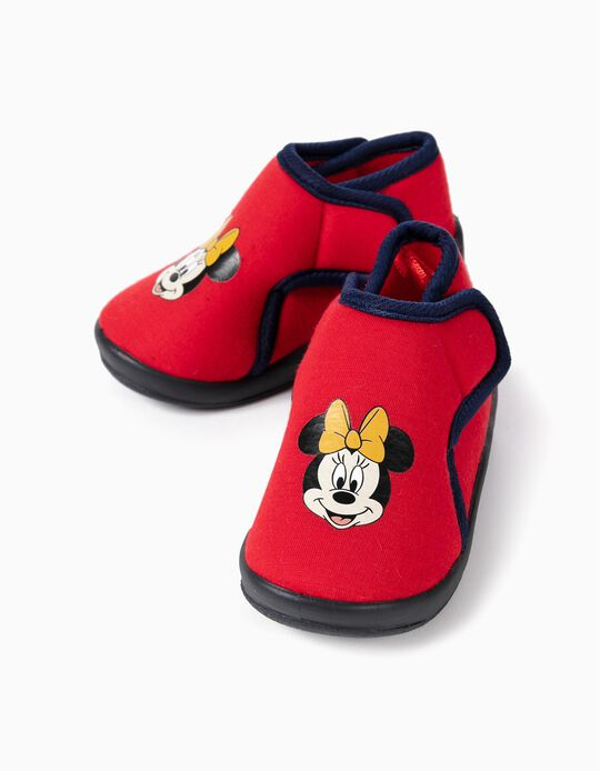 Slippers Boots for Baby Girls 'Minnie Christmas', Red