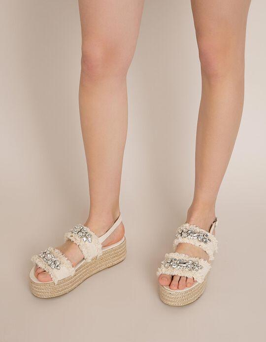 Sandálias Plataforma Brilhantes