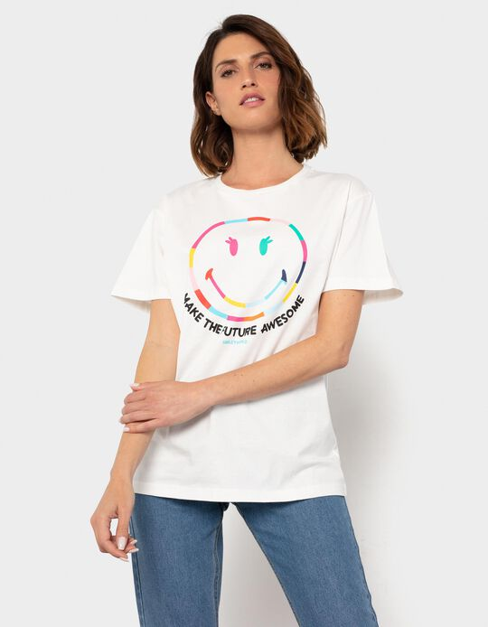 T-shirt 'Smiley World', Mulher