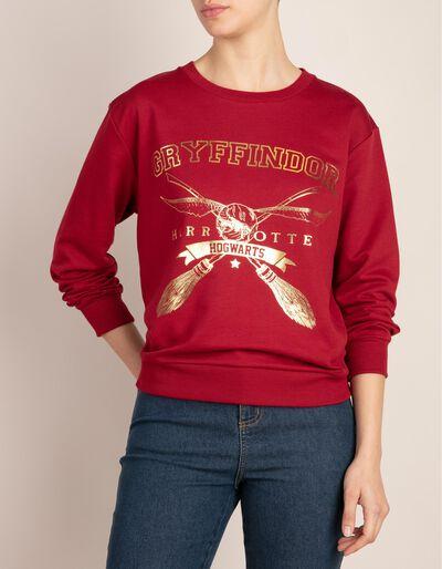 Sweatshirt com estampado Harry Potter em dourado