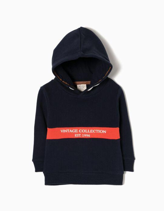 Sweatshirt com Capuz Vintage