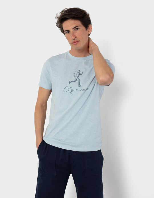 T-shirt with Embroidery, for Men