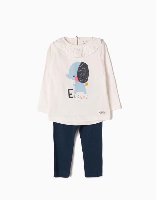 Long-Sleeved Top & Leggings, Elephant
