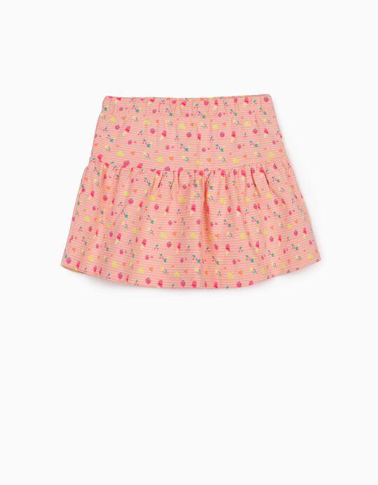 Printed Skirt for Girls, Pink