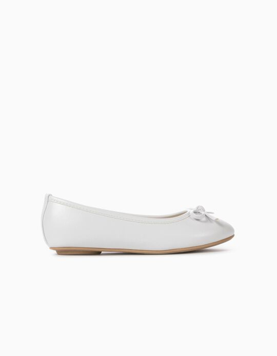 Ballet Pumps for Girls, White