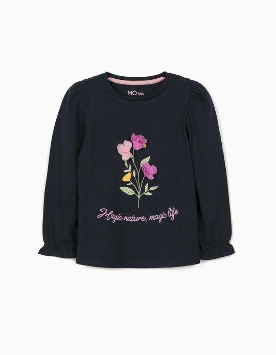 T-shirt Manga Comprida Flores