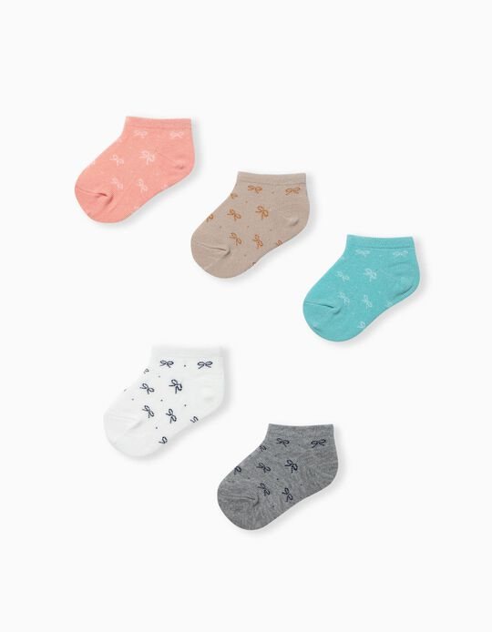 5 Pairs of Assorted Trainer Socks for Babies