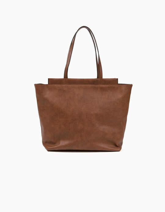 Shopper Bag, Pebbled Effect