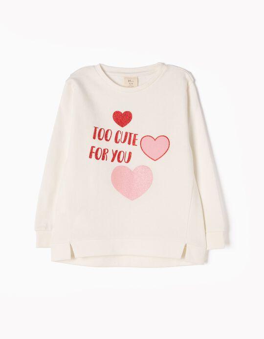 Sweatshirt Too Cute For You Branca