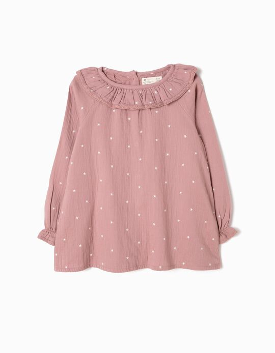 Pink Crepe Blouse, Stars
