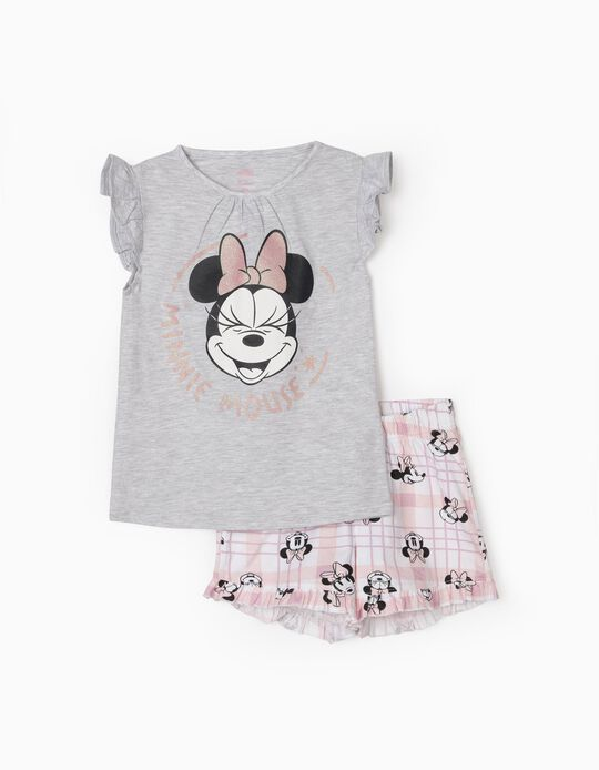 Pyjamas for Girls, 'Minnie Mouse', Grey/Pink