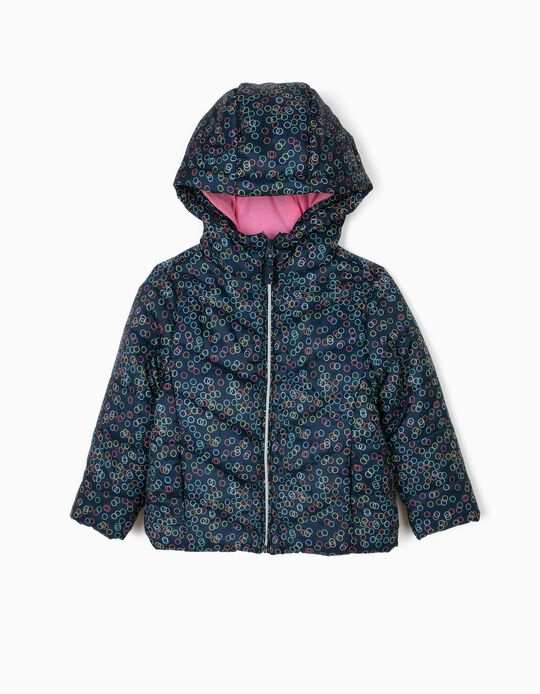 Padded jacket with dot pattern