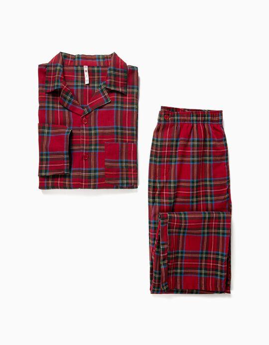 Conjunto de Pijama camiseiro em xadrez