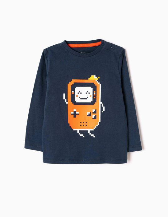 Long-Sleeved T-Shirt with Print, Game