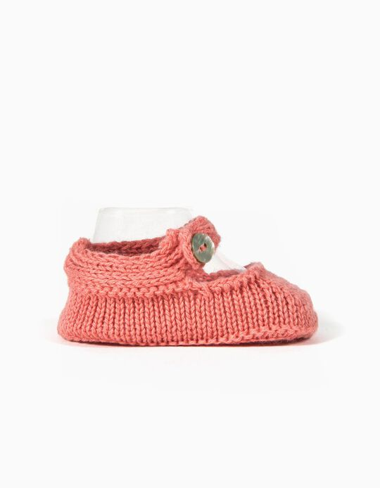 Knit Booties for Baby, Pink