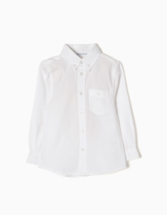 Long-Sleeve Shirt for Baby Boys, White