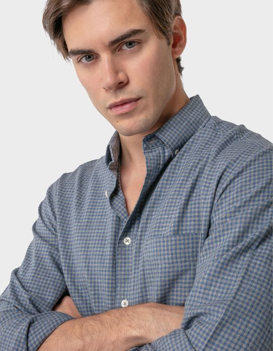 Regular fit flannel shirt